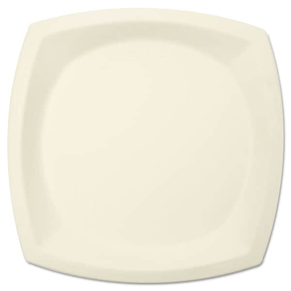 SOLO Cup Company Bare Eco-Forward Sugarcane Plate Perfect Pak 10 inches dia Ivory 125/Pack 23056423