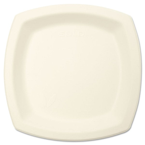 SOLO Cup Company Bare Eco-Forward Sugarcane Dinnerware Perfect Pak 6 7/10 inches Plate Ivory 125/Pack 23056426