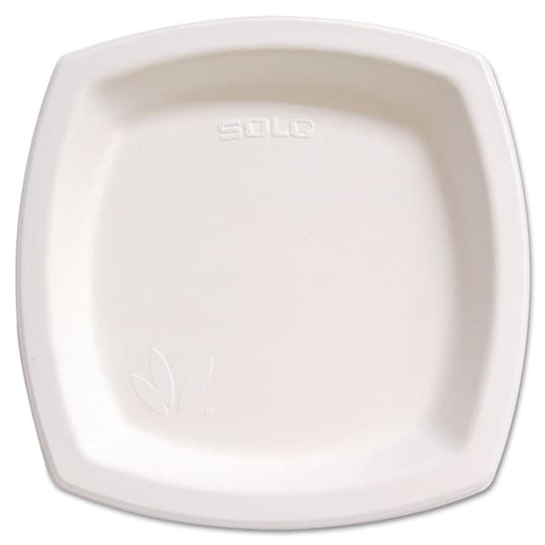 SOLO Cup Company Bare Eco-Forward Sugarcane Dinnerware Perfect Pak 8 3/10-inch Plate Ivory 125/Pack 23056427