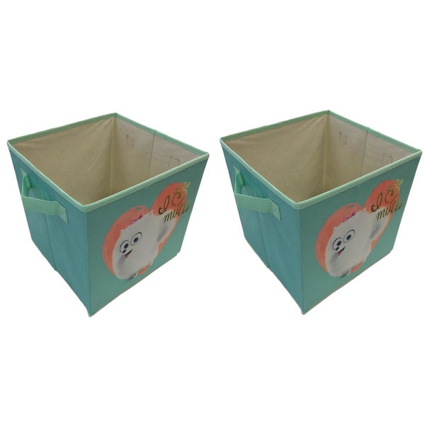 Mutts Blue Collapsible Storage Cubes (Set of 2) 23059321