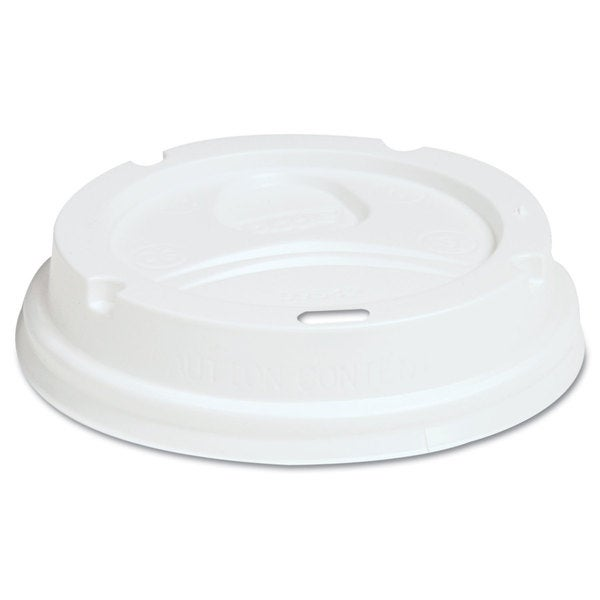 Dixie Dome Drink-Thru Lids Fits 12-16-ounce Paper Hot Cups White 1000/Carton 23059395