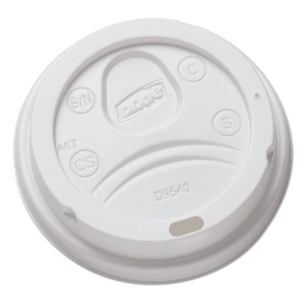 Dixie Sip-Through Dome Hot Drink Lids for 10-ounce Cups White 100/Pack 1000/Carton 23059442