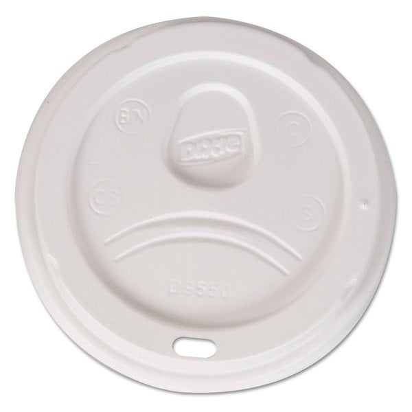 Dixie Sip-Through Dome Hot Drink Lids Fits 20 24-ounce Cups White 1000/Carton 23059444