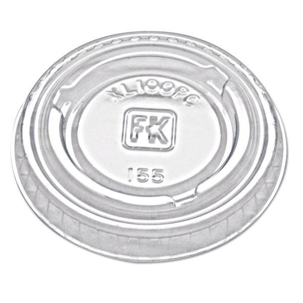 Fabri-Kal Portion Cup Lids Fit 0.75-1-ounce Portion Cups Clear 2500/Carton 23059511