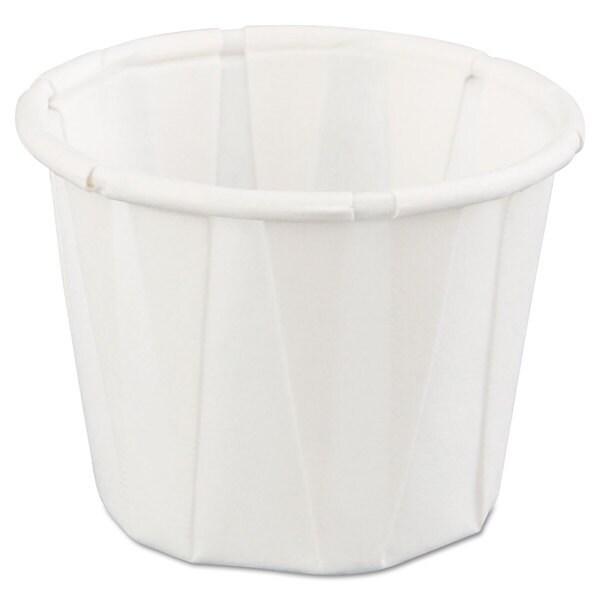 Genpak Squat Paper Portion Cup .75oz White 250/Bag 20 Bags/Carton 23059522
