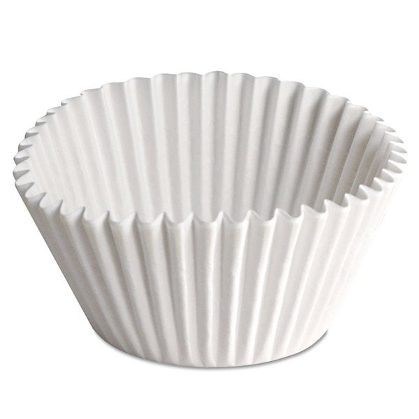 Hoffmaster Fluted Bake Cups 2 1/4 dia x 1 7/8h White 500/Pack 20 Pack/Carton 23059525