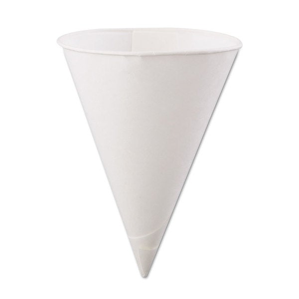 Konie Rolled-Rim Paper Cone Cups 6oz White 200/Bag 25 Bags/Carton 23059530