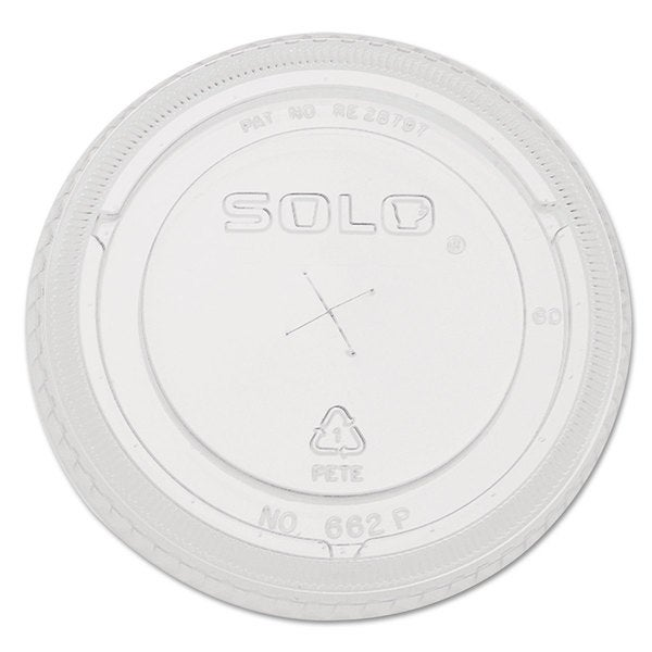 SOLO Cup Company Straw-Slot Cold Cup Lids 9oz-20-ounce Cups Clear 100/Sleeve 10 Sleeves/Carton 23059591