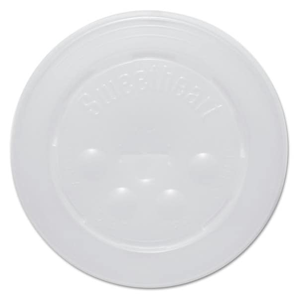 SOLO Cup Company Polystyrene Cold Cup Lids 16-22-ounce Cups Translucent 125/Pack 16 Packs/Carton 23059595