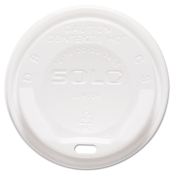 SOLO Cup Company Gourmet Hot Cup Lids For Trophy Plus Cups 12-16 -ounce White 1500/Carton 23059596
