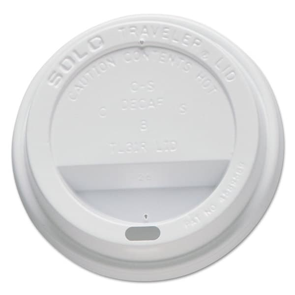 SOLO Cup Company Traveler Drink-Thru Lids Fits 10-ounce Cups White 100/Pack 10 Packs/Carton 23059597