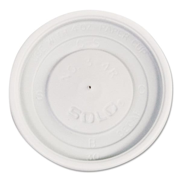 SOLO Cup Company Polystyrene Vented Hot Cup Lids 4-ounce Cups White 100/Pack 10 Packs/Carton 23059598