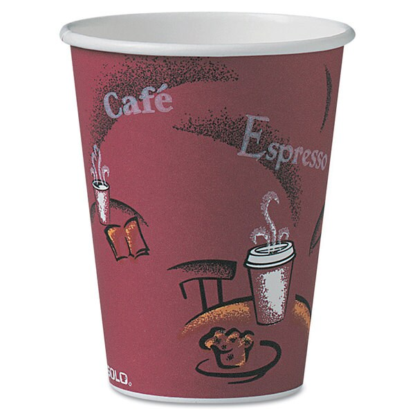 SOLO Cup Company Bistro Design Hot Drink Cups Paper 12-ounce 300/Carton 23059642