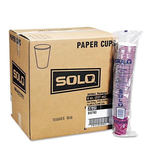 SOLO Cup Company Bistro Design Hot Drink Cups Paper 10oz 1000/Carton 23059655