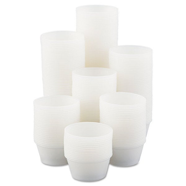 SOLO Cup Company Polystyrene Portion Cups 3.25oz Translucent 250/Bag 10 Bags/Carton 23059679