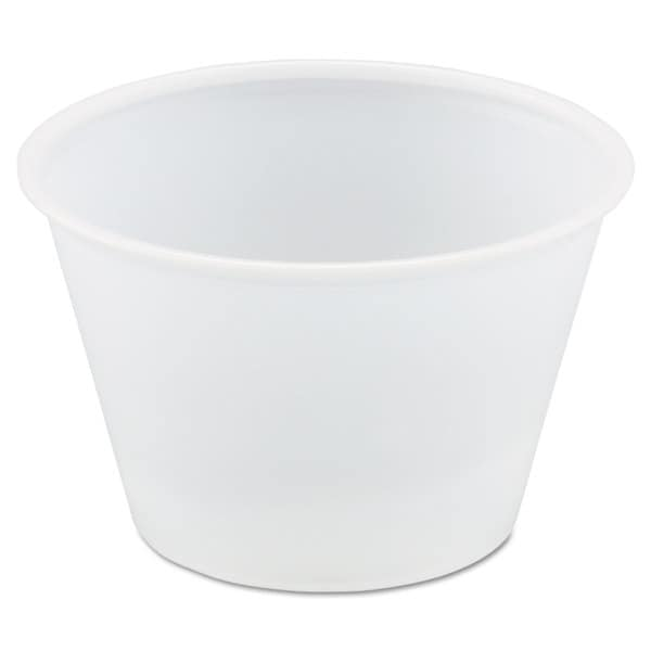 SOLO Cup Company Polystyrene Portion Cups 4oz Translucent 250/Bag 10 Bags/Carton 23059686