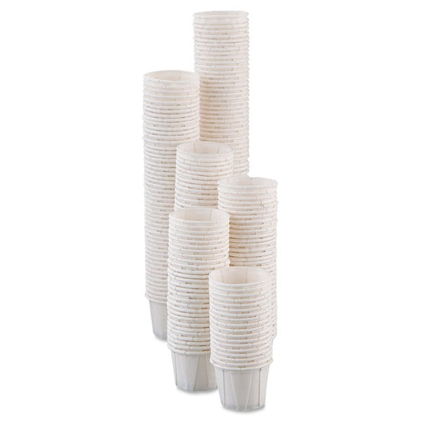 SOLO Cup Company Paper Portion Cups .5oz White 250/Bag 20 Bags/Carton 23059708