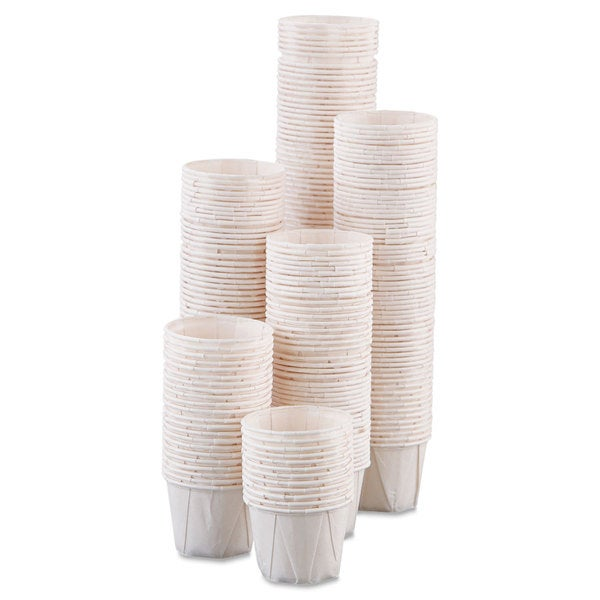 SOLO Cup Company Paper Portion Cups 1oz White 250/Bag 20 Bags/Carton 23059723