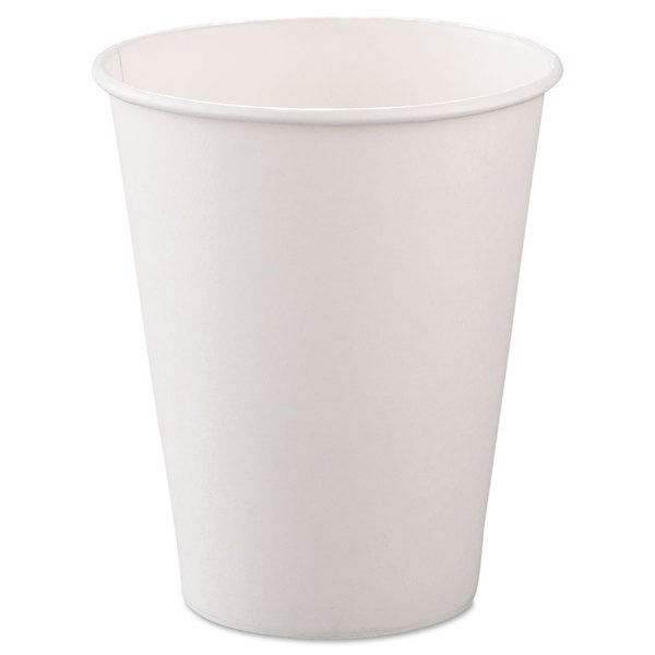 SOLO Cup Company Single-Sided Poly Paper Hot Cups 8oz White 50/Bag 20 Bags/Carton 23059729