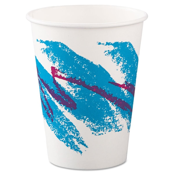 SOLO Cup Company Jazz Paper Hot Cups 12oz Polycoated 50/Bag 20 Bags/Carton 23059750