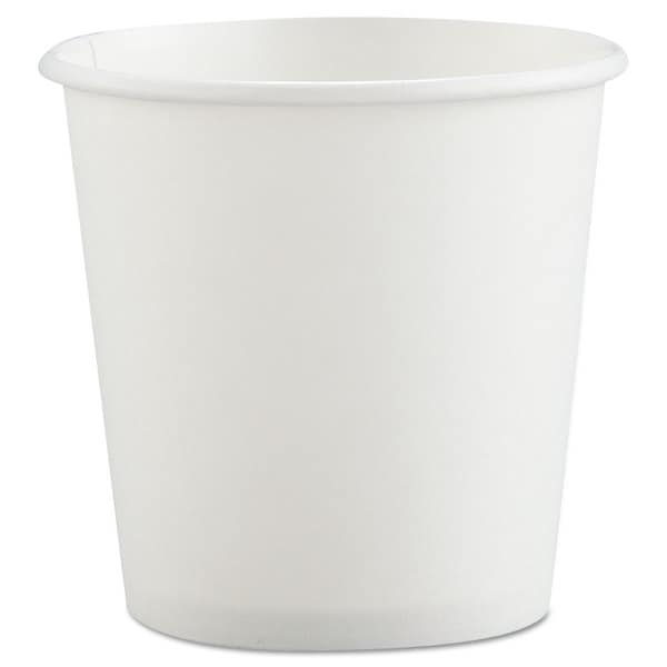 SOLO Cup Company Polycoated Hot Paper Cups 4-ounce White 23059756