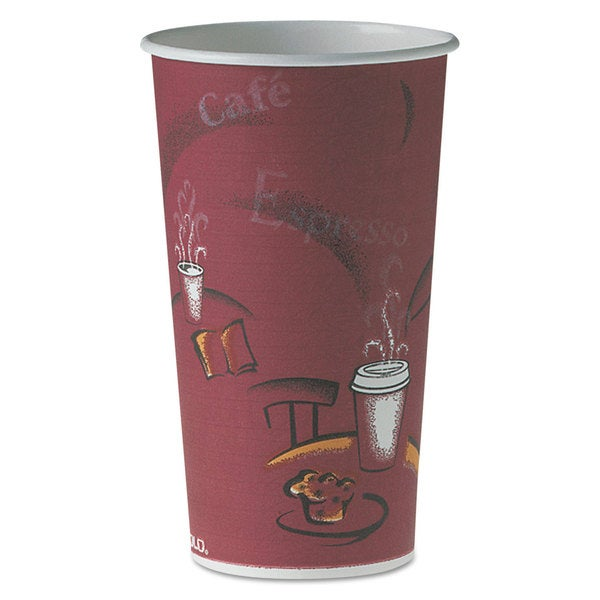 SOLO Cup Company Polycoated Hot Paper Cups 20-ounce Bistro Design 600/Carton 23059839