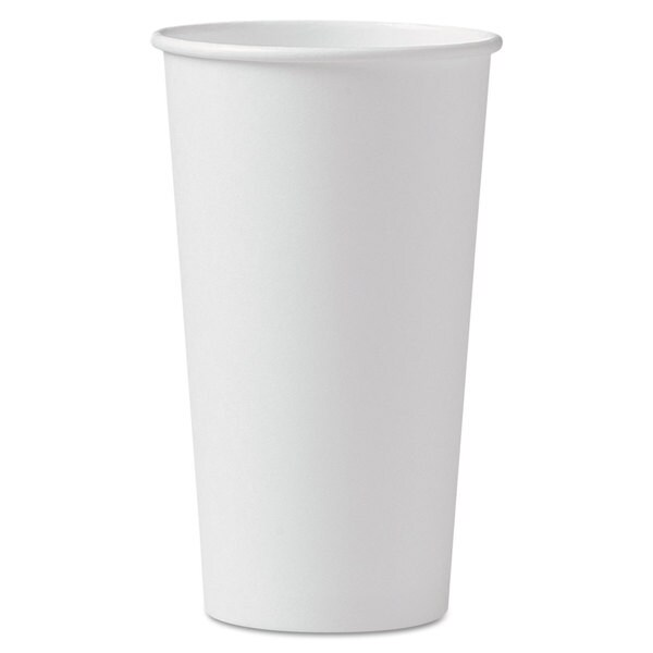SOLO Cup Company Polycoated Hot Paper Cups 20 oz White 600/Carton 23059842