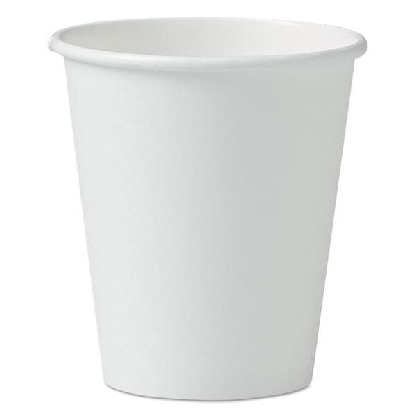 SOLO Cup Company Single-Sided Poly Paper Hot Cups 6-ounce White 50/Pack 20 Packs/Carton 23059879