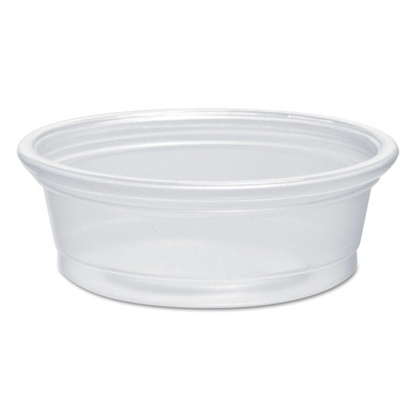 Dart Plastic Souffle Portion 1/2 oz. Translucent Cups (Case of 2500) 23059887
