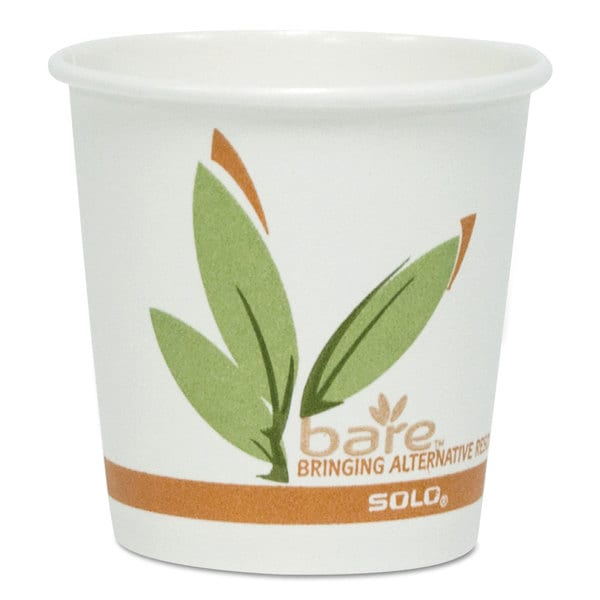 SOLO Cup Company Bare Eco-Forward Recycled Content PCF Hot Cups 4 -ounce 1,000/Carton 23059903