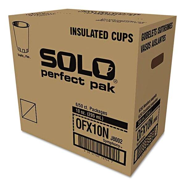 SOLO Cup Company Symphony Design Trophy Foam Hot/Cold Drink Cups 10oz 300/Carton 23061282