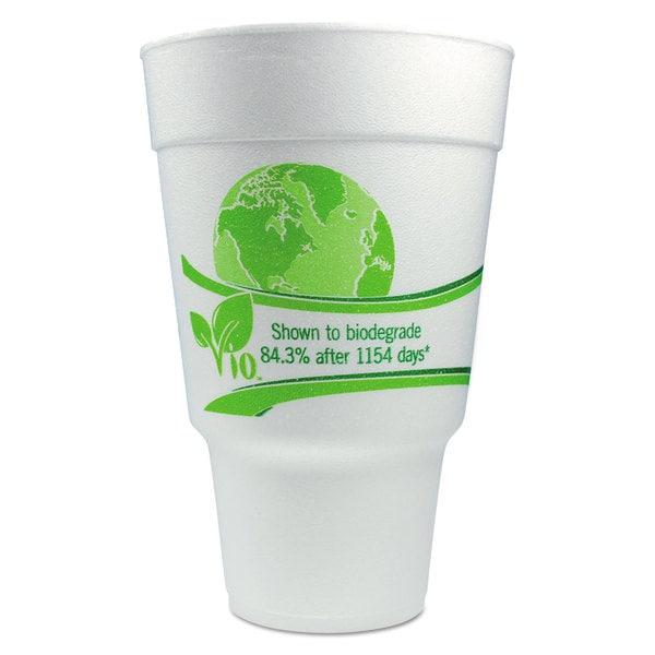 WinCup Vio Cups Foam 32 -ounce White/Green 23061289