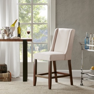 """Madison Park Victor Cream Wing Counter Stool - 18""""w x 26.5""""d x 41.5""""h"""