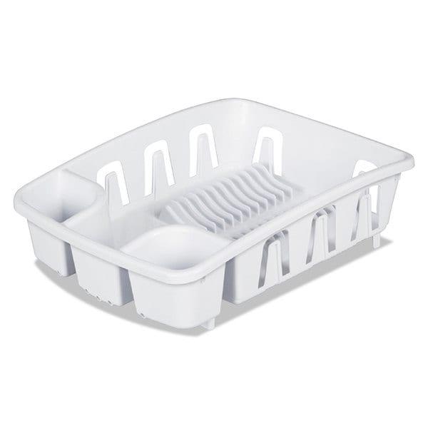 Office Settings Drain Rack White Plastic 5 3/8 x 17 5/8 x 3 23068094