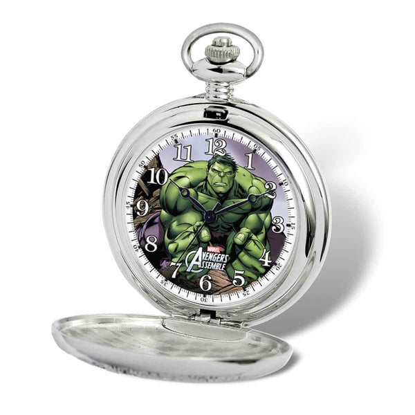 Marvel Stainless Steel Men's Hulk Pocket Watch With Chain 23077627