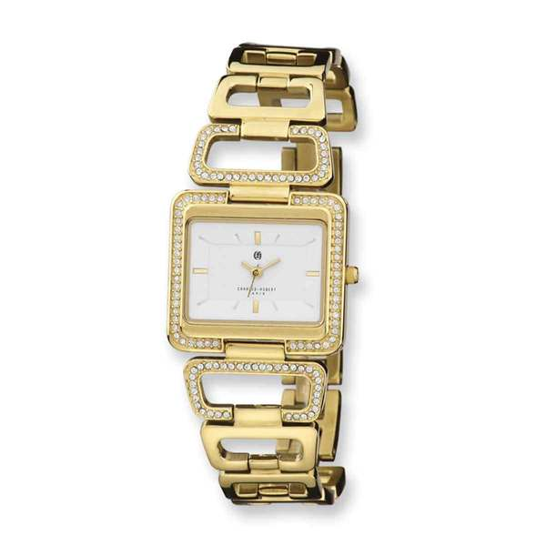 Charles Hubert Goldplated Stainless Steel White Dial Quartz Watch 23080644