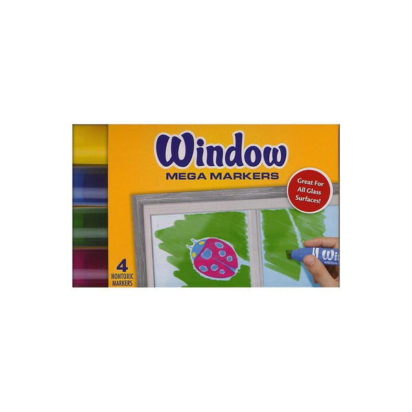 Crayola Window Mega Markers (4 Packs of 4) 23081100