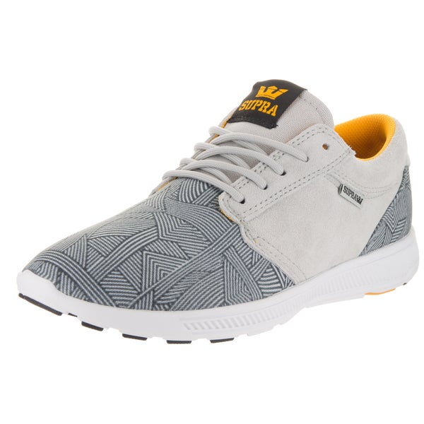 Supra Men's Hammer Run Grey/White Fabric Running Shoe 23095185