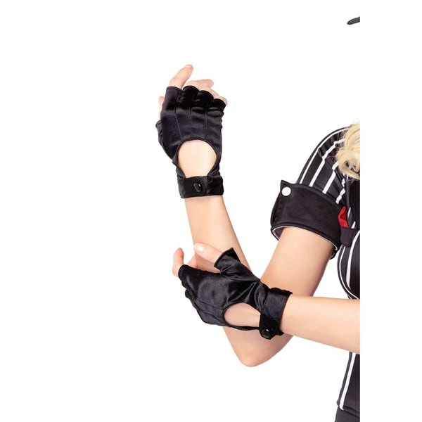 Leg Avenue Fingerless Black Motorcycle Gloves 23097397