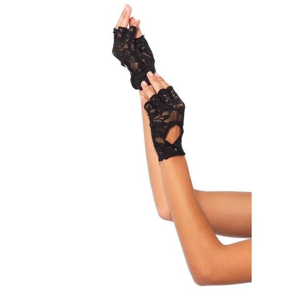 Leg Avenue Lace Keyhole Fingerless Gloves 23099846