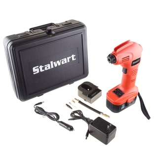 Cordless Air Compressor Portable Tire Inflator Rechargeable Handheld Emergency PSI/BAR Pump with Needles by Stalwart (18V)