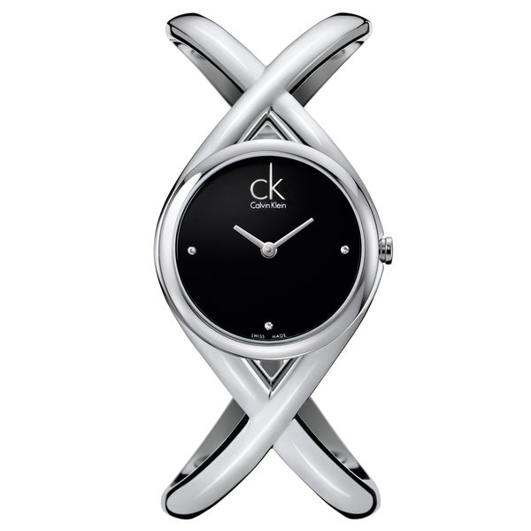 Calvin Klein Women's 'Enlace' Stainless Steel Swiss Quartz Watch (As Is Item) 23191376
