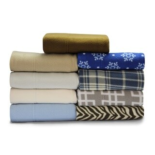 Asher Home Super Soft HeavyWeight Fleece Bed Sheet Set