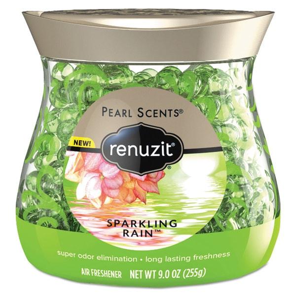 Renuzit Pearl Scents Odor Neutralizer Sparkling Rain 9-ounce Jar 8/Carton 23228193