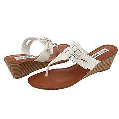 Steve Madden Flirtty White Patent Sandals