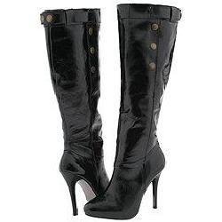Steve Madden Enact Black Patent Boots