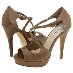 Steve Madden Gizella Taupe Patent Sandals
