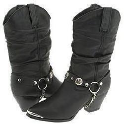 Steve Madden Leppard Black Leather Boots