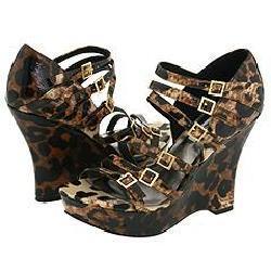 Steve Madden Nexxtt Leopard Patent Sandals