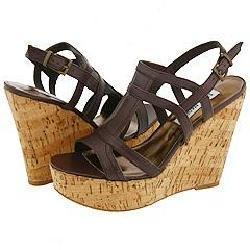 Steve Madden Slithher Brown Leather Sandals